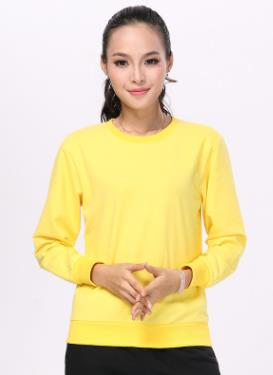 2019 Round neck blank solid color female T-shirt A-1