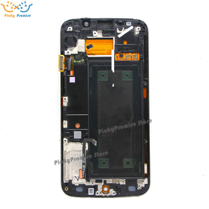 Image 2 - 100% test 5.1 süper AMOLED ekran SAMSUNG Galaxy S6 kenar LCD G925 G925I G925F dokunmatik ekran digitizer çerçeve ile