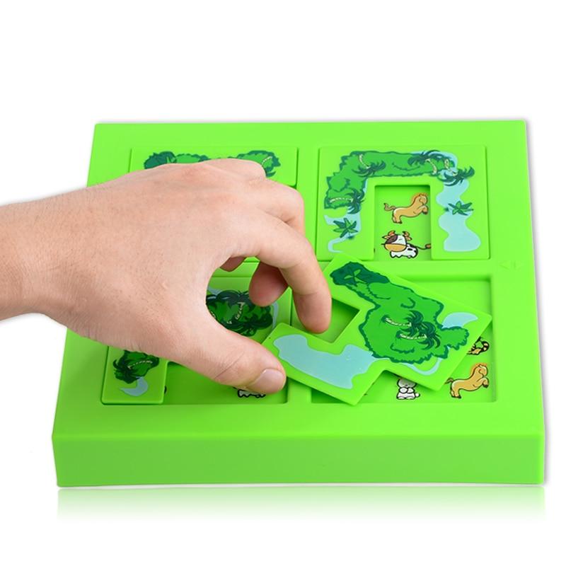 Kvalitet Nytt Barn Dyr Maze Puslespill IQ Mind Logic Brain Teaser - Puslespill - Bilde 3