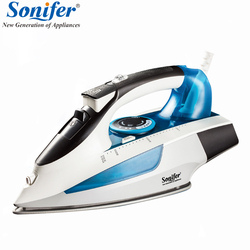 2400W High quality laundry home appliances Electric Steam Iron For Clothes Adjustable Ceramic soleplate iron for ironing Sonifer