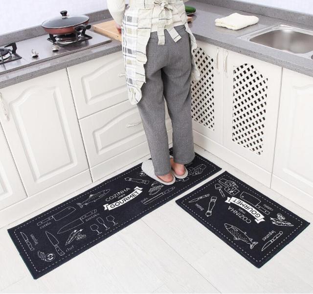 Modern Kitchen Mat aliexpress : buy 2pcs modern kitchen mat anti slip cookroom