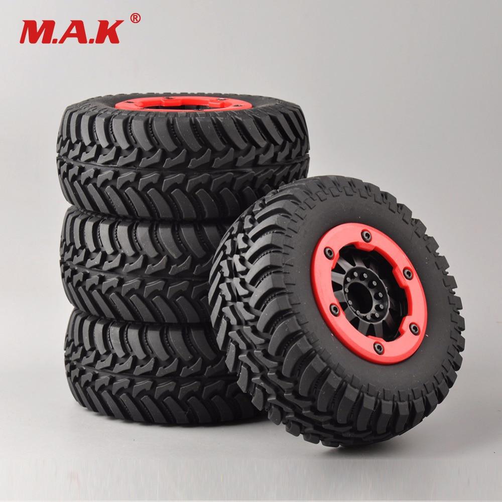 4pcs RC 1//10 Short Course SC Tires /& Beadlock Wheels Hex 12mm For Traxxas Slash