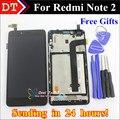 Alta qualidade display lcd + digitador assembléia tela de toque para xiaomi redmi note 2 hongmi note 2 celular com quadro ferramentas gratuitas