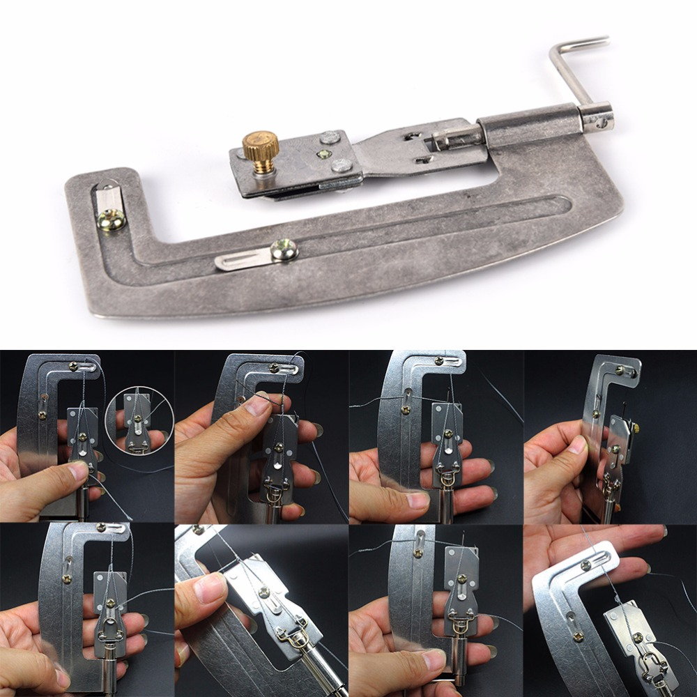 Protable Fishing Tool Stainless Steel Semi Automatic Machine For Lure Fishing Hook Tier Tie Hook Device Accessories
