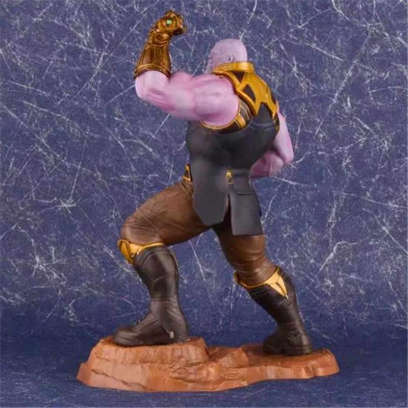 Exibição do Modelo de Guerra Infinita do filme Os Vingadores Thanos ARTFX PVC coleção toy figuras de ação 25 CM