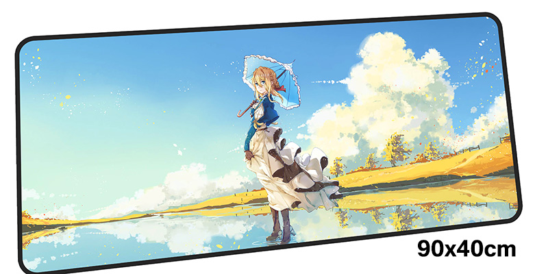 violet evergarden mousepad gamer 900x400X3MM gaming mouse pad Boy Gift notebook pc accessories laptop padmouse ergonomic mat