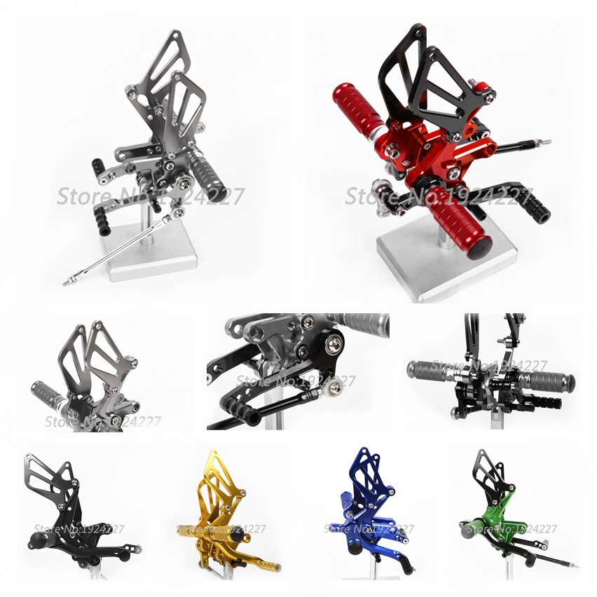 8 Colors For Suzuki GSXR750 GSXR 750 1996-2005 CNC Adjustable Rearsets Rear Set Motorcycle Foot Pegs Pedal 2004 2003 2001 2002 free shipping cnc motorcycle rearsets foot pegs rearset titanium color for honda cbr954rr 2002 2003