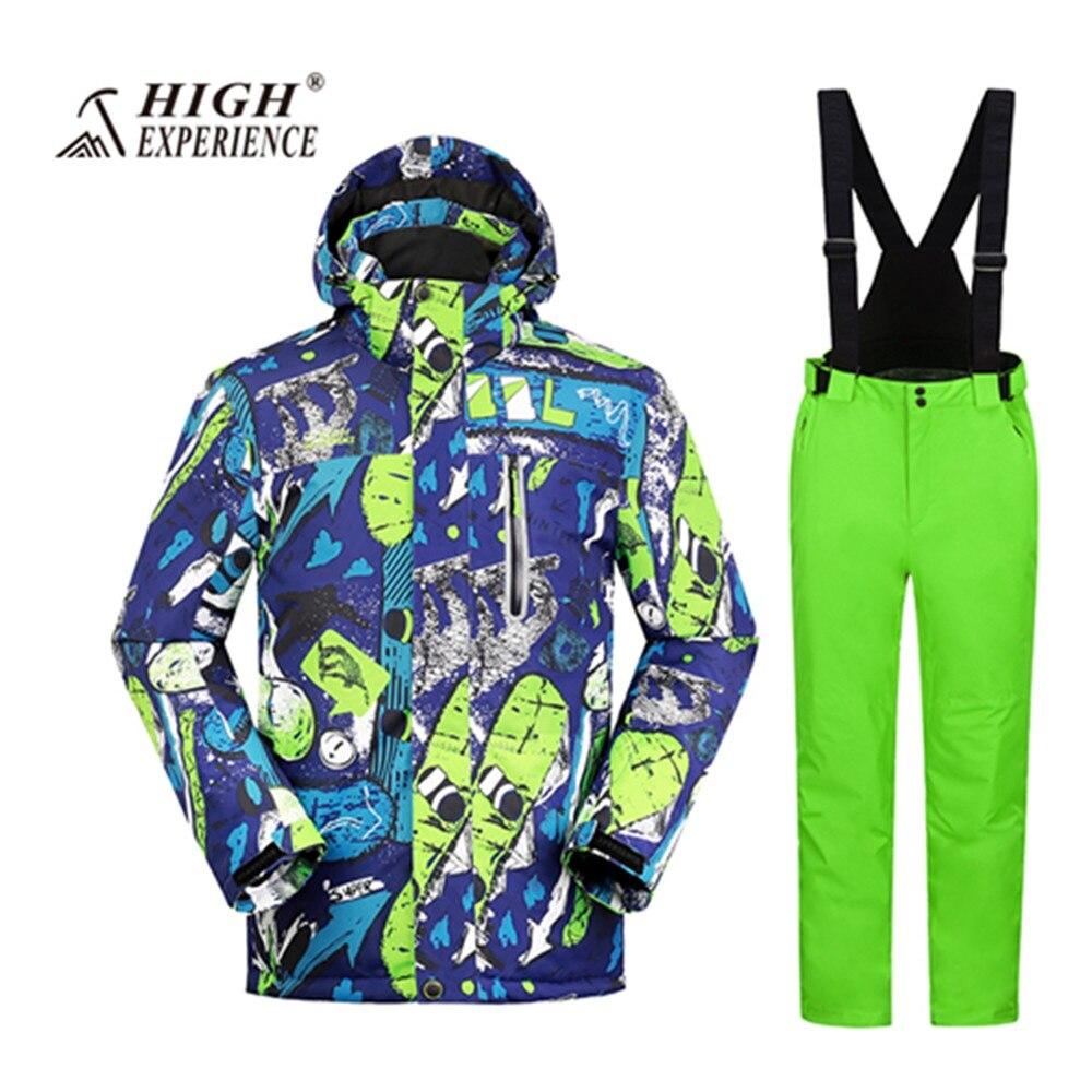 Wintersport snowboard costume veste de ski hommes pantalon de neige ski de montagne costumes pour hommes chaud imperméable ski jas esqui skiwear
