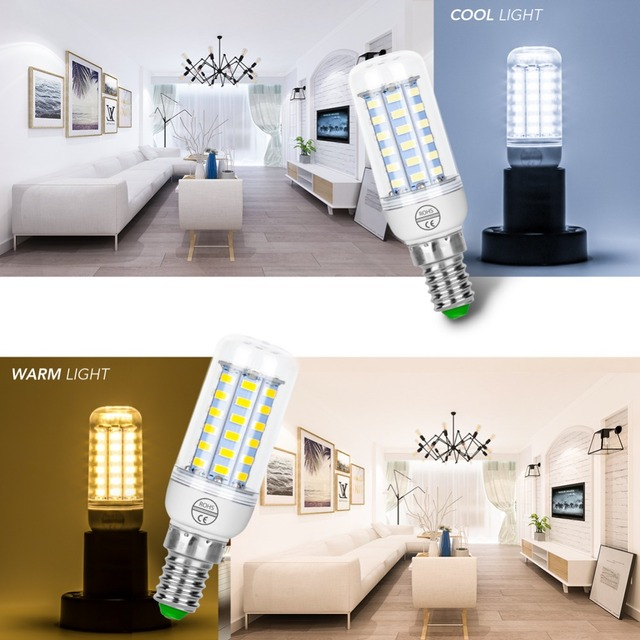E14 LED Bulb Corn Lamp E27 LED light 220V Ampoule Led 3W lampada 5730 SMD 24 36 48 56 69 72leds Candle Light Bulb 5W Chandelier