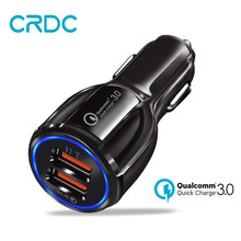 CRDC Car Charger Quick Charge 3.0 USB Car Phone Charger Fast Charger for iPhone Samsung Xiaomi etc QC 2.0 Compatible Car-Charger(China)