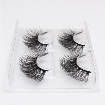 HBZGTLAD 2 pairs natural false eyelashes fake lashes long makeup 3d mink lashes eyelash extension mink eyelashes for beauty 758 1