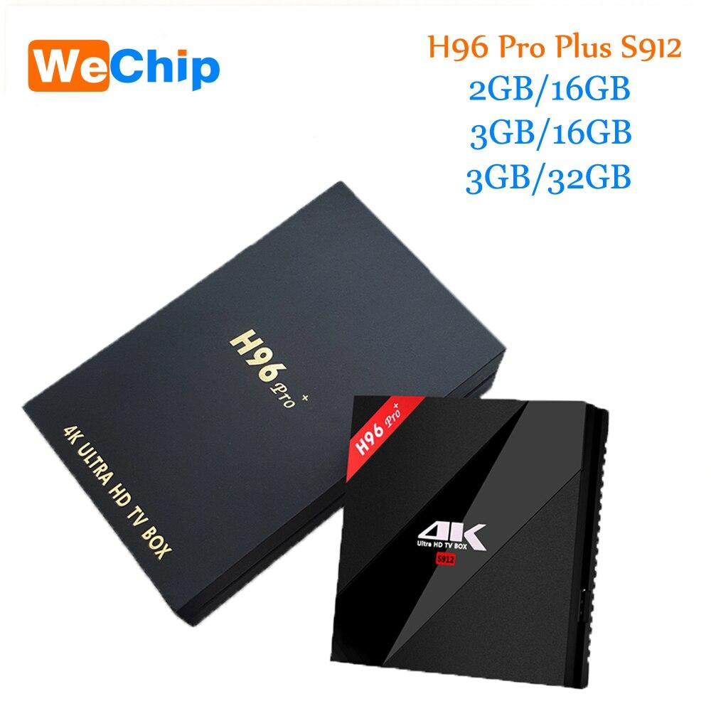 Original H96 Pro Plus android smart tv box 7.1 Amlogic S912 Octa Core 3G/32G double wifi BT4.1 4K H96pro + PK X96 lecteurs multimédia