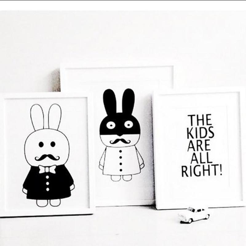 Cute Rabbit Animal DIY Wall Sticker Балалар бөлмесі - Үйдің декоры - фото 4