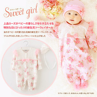 Fashion 2015 Autumn/Winter Baby Rompers Clothes Newborn Girls Air cotton flower pring pedobaptism Baby Jumpsuit Clothing + hat