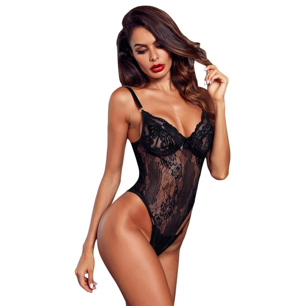 d0aa9cb163 Detail Feedback Questions about Sexy Lace Bodysuit Teddy Hot Lingerie Women  Bra Panties One Piece Underwear Bra Brief Set on Aliexpress.com
