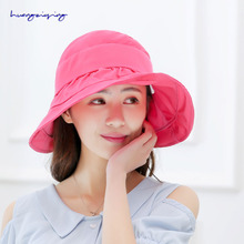 2017 dome hat summer fashion sunscreen sun hat empty top folding pearl flower sandwiches beach hat