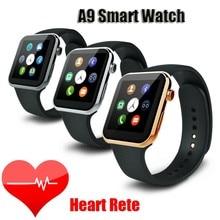2016ใหม่S Mart W Atch A9นาฬิกาบลูทูธสมาร์ทสำหรับip honeแอปเปิ้ลและซัมซุงโทรศัพท์A Ndroid relógio inteligente r elojนาฬิกามาร์ทโฟน