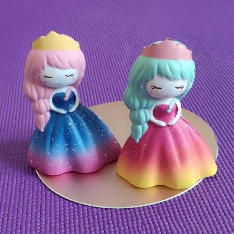 SWEES 10 pcs/lot Kawaii Jumbo Bling Arc-En-Fée Princesse Gril Visqueux Lente Hausse Antistress Jouets à Presser Parfumée Enfants Cadeau