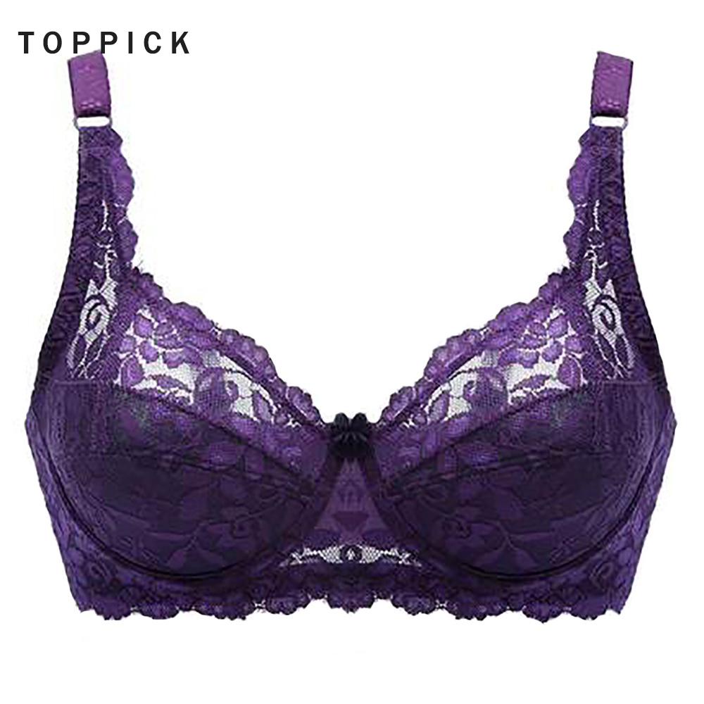 2019 <font><b>Sexy</b></font> Lace Bra For Women Hot Full Cup Thin Underwear Ultra-thin Cotton Cup B Push Up <font><b>Encaje</b></font> <font><b>Bralette</b></font> Brassiere Free Ship image