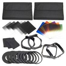 1 Juego de filtros + anillo adaptador para cokin Serie p LF142, 6 uds filtros ND + 6 uds Filtro de Color Gradual + 9 Uds anillo adaptador
