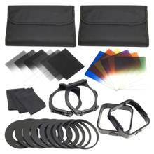 1 set Filters + Ring Adapter FOR cokin p series LF142, 6pcs ND Gradual Color Filter 9pcs