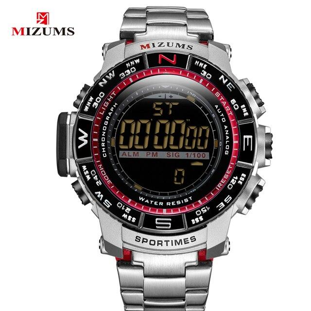 0ecad876c257 İndirimli Moda erkek spor saat adam için dijital saatler erkekler su ...