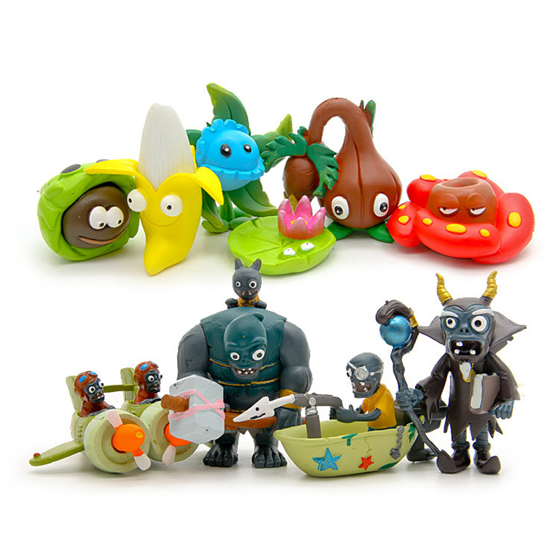 New Arrival PVZ Plants vs Zombies 3 Figure Toy Plants and