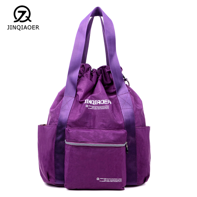Jinqiaoer New Women S Handbag Travel Double Shoulder Bag Laptop Packs Bundle Pocket Casual Single Bags