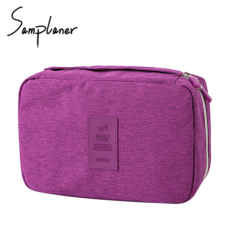 Samplaner 2018 Canvas Travel Women Bags For Men Wash Bags Toiletry Kits Storage Large Capacity Ladies Makeup Bags Cosmetic Pouch