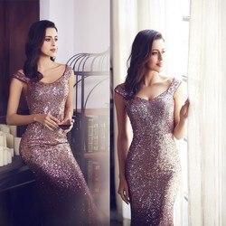 Новые бордовые выпускные платья, длинные элегантные платья без рукавов с блестками, блестящие вечерние платья русалки, сексуальные платья ...