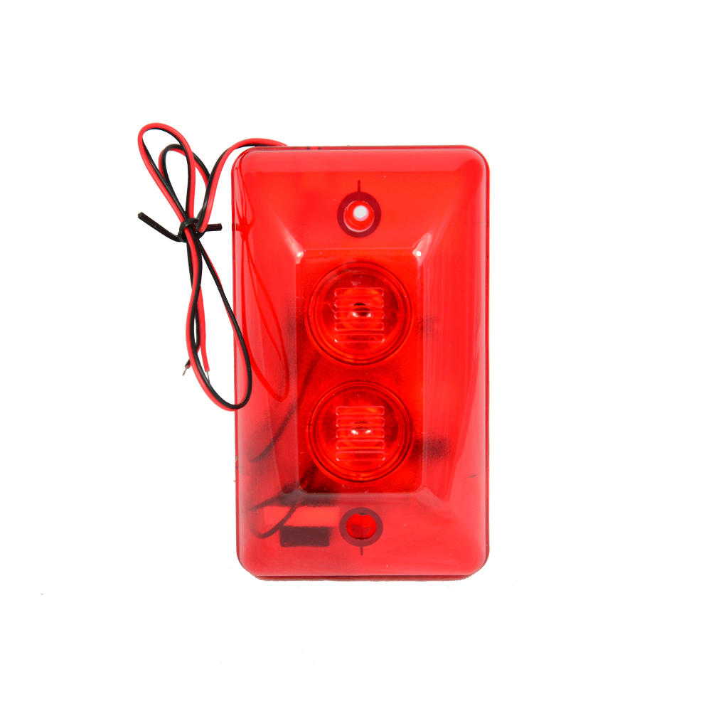 1 PCS Red color Wire use Strobe siren For security alarm anti theft double Siren inside 120DB louder speaker Free shipping 120db loud security alarm siren horn speaker buzzer black red dc 6 16v