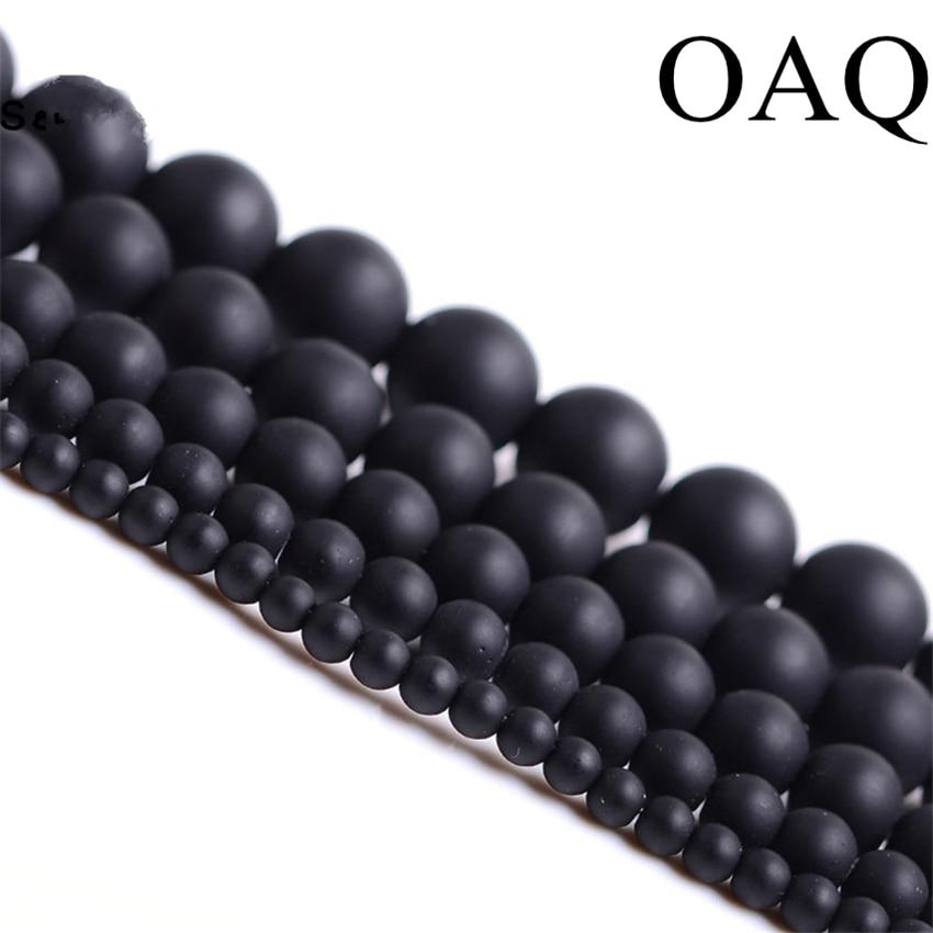 Grânulos De Pedra naturais 4-14mm Rodada Fosco Atacado Preto Beads Dull Polonês Ônix Carnelian Contas de Pedra Preto para fazer jóias