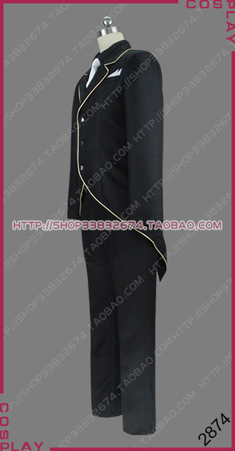 Overlord Sebas Tian Head Butler of the Great Tomb of Nazarick Iron Butler Uniform Outfit Cosplay Costume S002