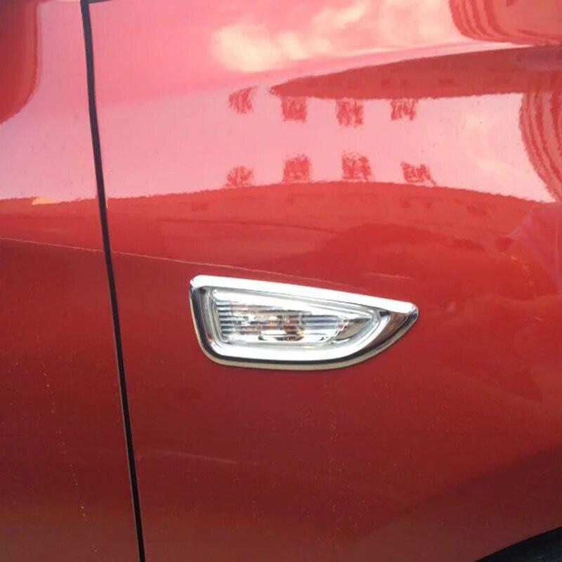 ABS Chrome Side Turn Signal Light Cover Trim 2pcs for Hyundai Kona 2017-2018