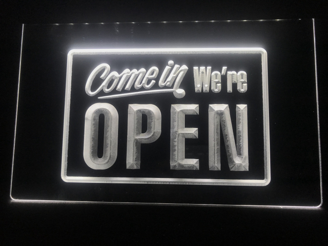I001 Come In We're OPEN Shop cafe Bar Display LED Neon Light Sign