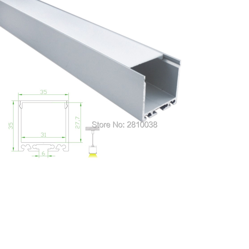 alumínio alu perfil led para luzes de suspensão