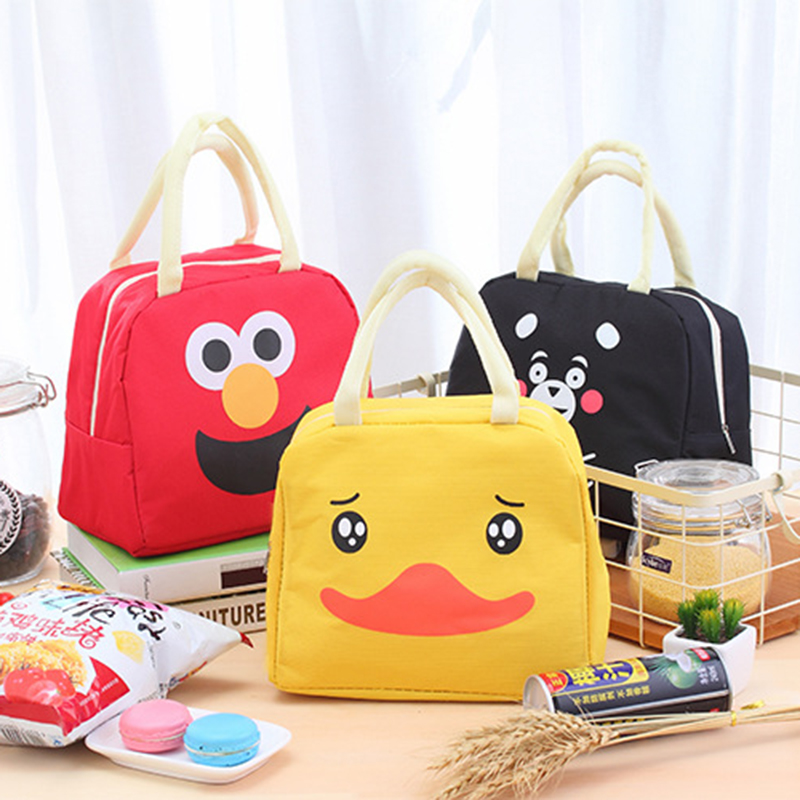 Cartoon Picnic Portable Bag Lunch Insulated Tote Thermal Cooler Food Bags Canvas Beach O ...