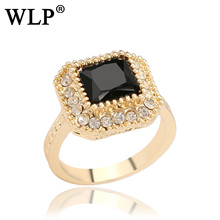Brand New arrival Rings Black Red Green Stones Gems Luxury Jewelry Retro Style