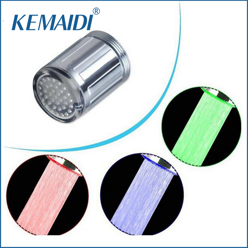 Sanitary Ware Suite Symbol Of The Brand Kemaidi Led Light No Battery Automatic Temperature Sensor Glow Shower/bathroom Sink Vessel Water Faucet Tap Dropshipping Bathroom Fixtures