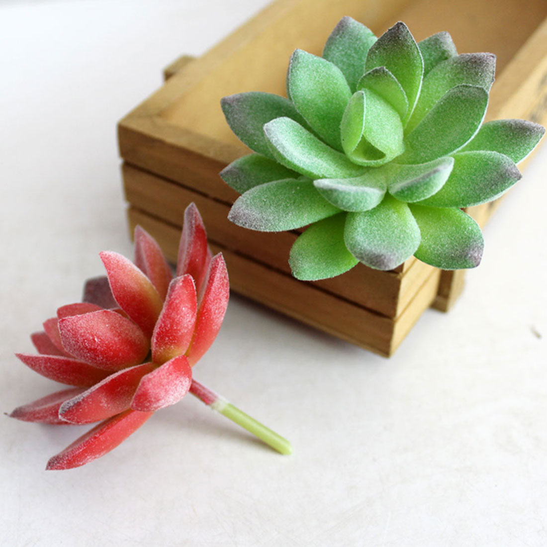 Edelweiss decoration 1pc artificial plants succulent frost lotus artificial plant 1 mightylinksfo