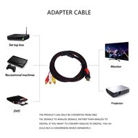 10PCS 5ft HDMI Male to RCA Video Audio AV Cable Adapter for PS3 PS4 Xbox One Wii