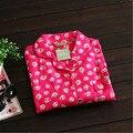 Chegada nova mulheres pajama define doce completa mangas bonito cup cakes impresso doce pijama rosa qualidade superior para senhoras