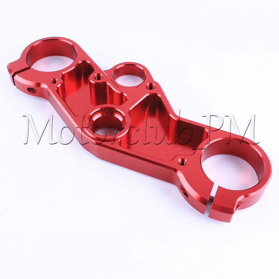 CNC Triple Tree Front End Upper Top Clamp For Suzuki GSXR600/750 2001-2003 2002 GSXR1000 2001-2002 Red