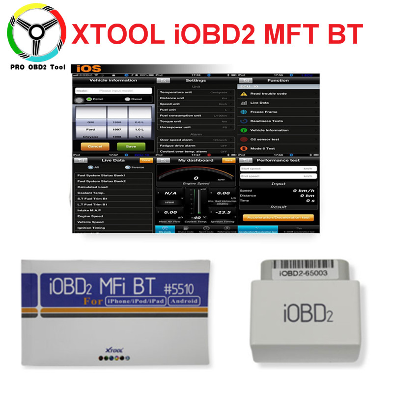Newly Original professional XTOOL iOBD2 Bluetooth OBD2/EOBD Auto Scanner Code Reader For iPhone/Android Vehicle Diagnostic Tool 2014 newly professional d900 obd2 read decoder scanner car diagnostic tool black orange