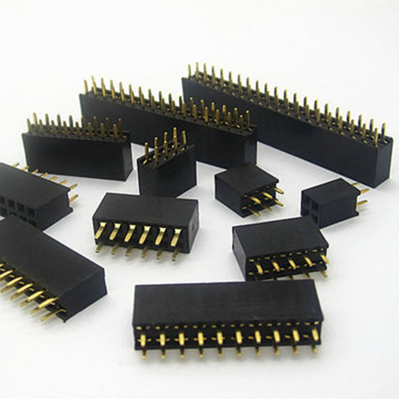 10pcs/lot Connector 2.54mm Double Row Female Connector Straight Pin Header Pitch 2.54mm Socket Pin Strip 2 pcs new 2 54mm pitch 2x20 pin 40 pin female double row long pin header strip pc104 page 5