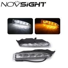 NOVSIGHT Auto LED Tagfahrlicht DRL Mit Gelb Blinker für VW Scirocco R 2010 ~ 14