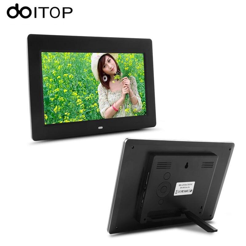 DOITOP 10 pouces LCD cadre Photo numérique haute définition Album électronique Suport réveil MP3 MP4 film jouer télécommande C4