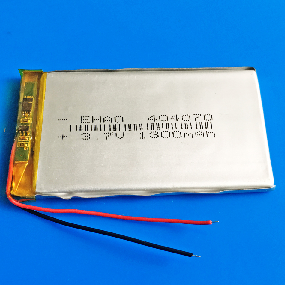 3.7V 1300mAh <font><b>404070</b></font> polymer lithium li-po Rechargeable battery for MP3 GPS DVD bluetooth Laptop recorder e-book camera image
