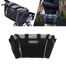 ROSWHEEL 5L Bike Handlebar Bag Bicycle Front Tube Pocket Shoulder Pack Outdoor Sports Cycling Mountain