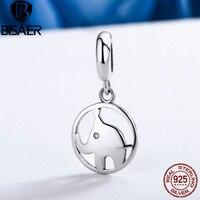 New Arrival Genuine 925 Sterling Silver Little Elephant Dangle Beads Fit Original Pandora Charm Bracelets Fashion